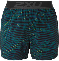Ghst Stretch Free Printed Running Shorts - Blue