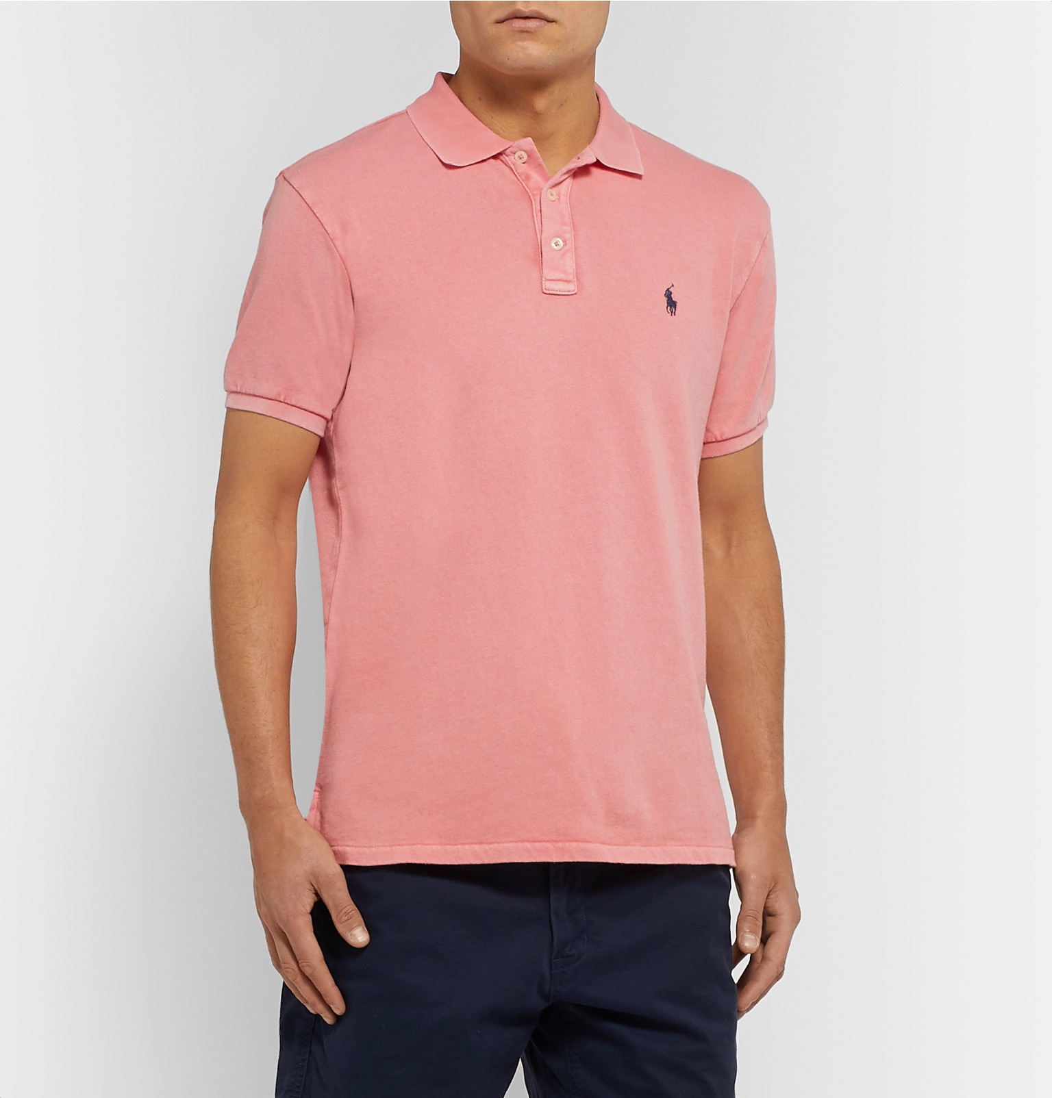 17dccd099 Polo Ralph Lauren - Slim-Fit Loopback Cotton-Jersey Polo Shirt