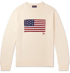 Polo Ralph Lauren - Embroidered Intarsia Cotton Sweater