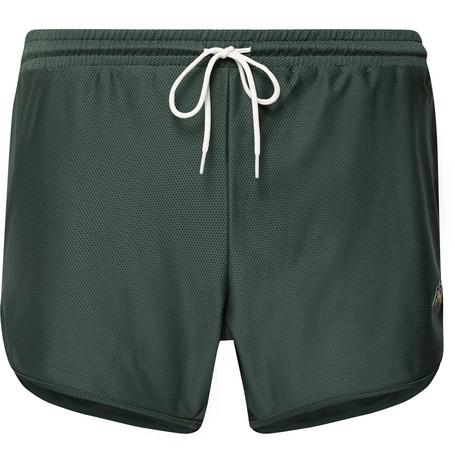 TRACKSMITH Van Cortlandt Mesh Shorts in Forest Green