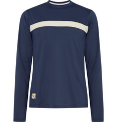 Tracksmith Twilight Striped Stretch-Mesh T-Shirt