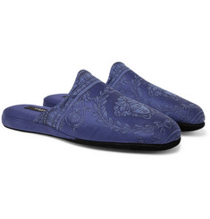Versace - Cotton-Jacquard Slippers
