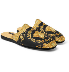 Versace - Printed Cotton Slippers