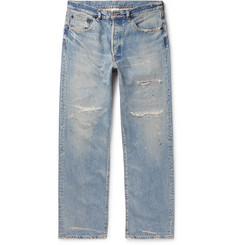 Fabric-Brand & Co Paint-Splattered Distressed Denim Jeans