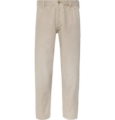 Fabric-Brand & Co Saxon Cropped Cotton-Twill Chinos