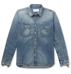Fabric-Brand & Co Distressed Denim Shirt