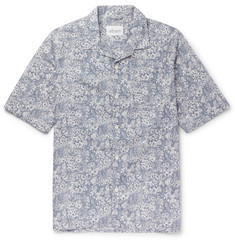 Albam - Camp-Collar Floral-Print Cotton Shirt