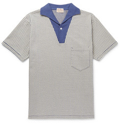 Levi's Vintage Clothing Striped Textured-Cotton Polo Shirt