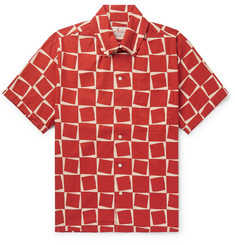 Levi's Vintage Clothing Button-Down Collar Printed Cotton-Poplin Shirt