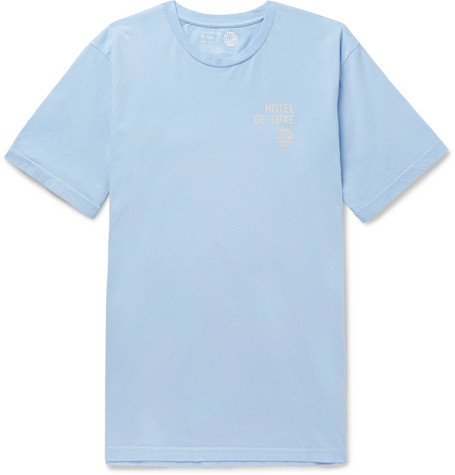 Printed Cotton Jersey T Shirt by Universal Works