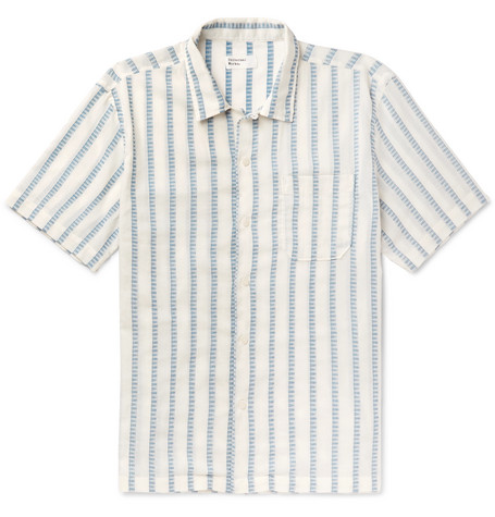 Striped Cotton Shirt by Universal Works