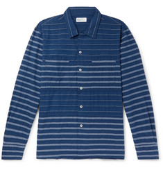 Universal Works Striped Cotton-Blend Shirt