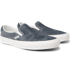 Vans OG Classic LX Brushed-Nubuck and Canvas Slip-On Sneakers