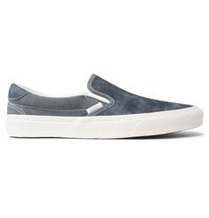 2a2d87561ee4b2 Vans OG Classic LX Brushed-Nubuck and Canvas Slip-On Sneakers