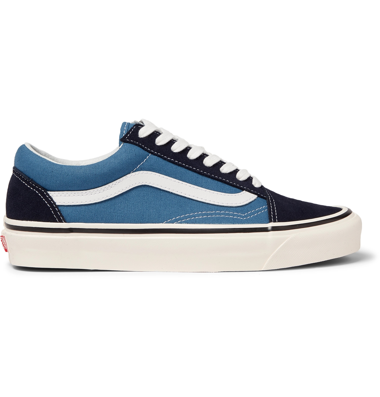 99f59956e9 VansAnaheim Factory UA Old Skool 36 DX Leather-Trimmed Canvas and Suede  Sneakers