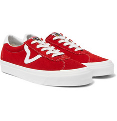 Vans UA Style 73 DX Leather-Trimmed Suede Sneakers