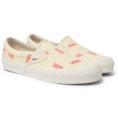 Vans - OG Classic LX Logo-Print Canvas Slip-On Sneakers
