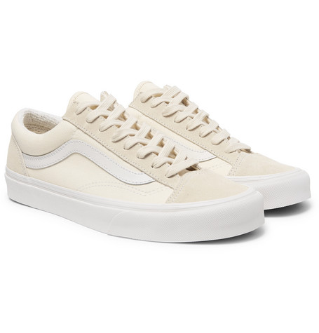 5c06bc803b Vans - UA Style 36 Leather-Trimmed Canvas and Suede Sneakers