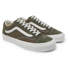 Vans - UA Style 36 Leather-Trimmed Canvas And Suede Sneakers