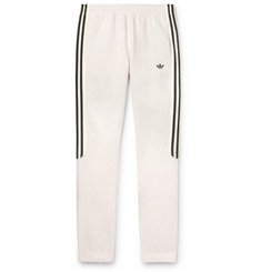 adidas Originals Radkin Tapered Slim-Fit Mélange Fleece-Back Cotton-Blend Jersey Sweatpants
