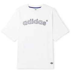 adidas Originals Arc Logo-Embroidered Cotton-Jersey T-Shirt