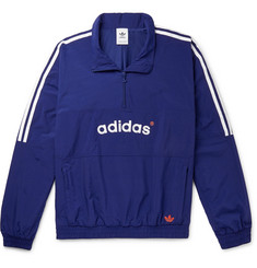 adidas Originals Arc Logo-Embroidered Striped Shell Half-Zip Track Jacket