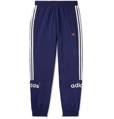 adidas Originals Arc Tapered Logo-Embroidered Striped Shell Track Pants