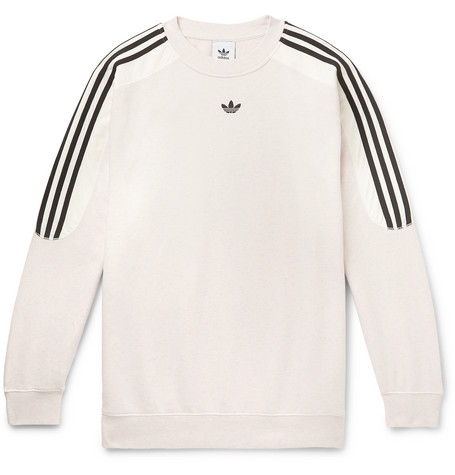 Radkin Mélange Fleece Back Cotton Blend Jersey Sweatshirt by Adidas Originals