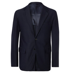 Camoshita Navy Slim-Fit Twill Suit Jacket