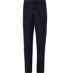 Camoshita - Navy Twill Drawstring Suit Trousers