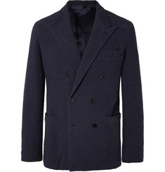 Camoshita Slim-Fit Double-Breasted Cotton-Bouclé Blazer