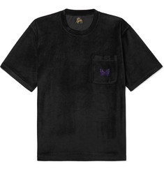 Needles - Embroidered Velour T-Shirt