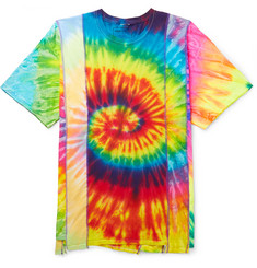 Needles Panelled Tie-Dyed Cotton-Jersey T-Shirt