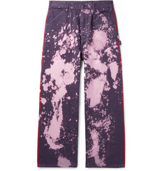 Needles Wide-Leg Bleach-Splattered Denim Jeans