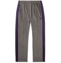 Needles Striped Cotton-Blend Velour Sweatpants