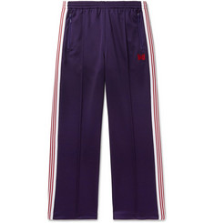 Needles Embroidered Striped Satin-Jersey Track Pants