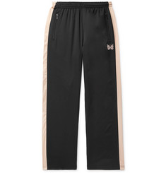 Needles Embroidered Striped Satin Sweatpants