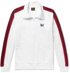 Needles Embroidered Striped Satin-Jersey Track Jacket