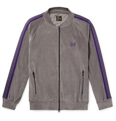 Needles Striped Cotton-Blend Velour Jacket