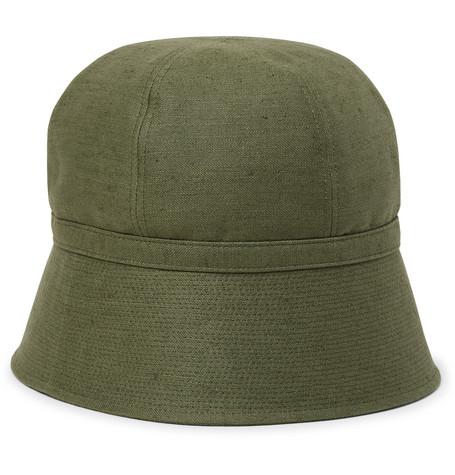 730ecc6d54adc Needles - Slub Linen and Cotton-Blend Bucket Hat
