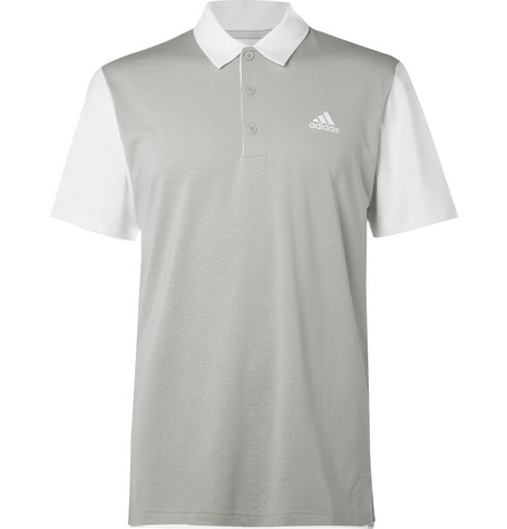 outlet store ad5cd 071e6 Adidas Golf Ultimate 2.0 Novelty Stretch-Jersey Golf Polo Shirt In Gray