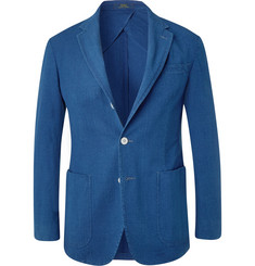 Polo Ralph Lauren Indigo Morgan Slim-Fit Cotton-Seersucker Blazer