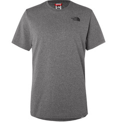 The North Face Logo-Print Mélange Cotton-Blend Jersey T-Shirt