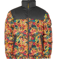 1992 Nuptse Printed Quilted Shell Down Jacket - Yellow