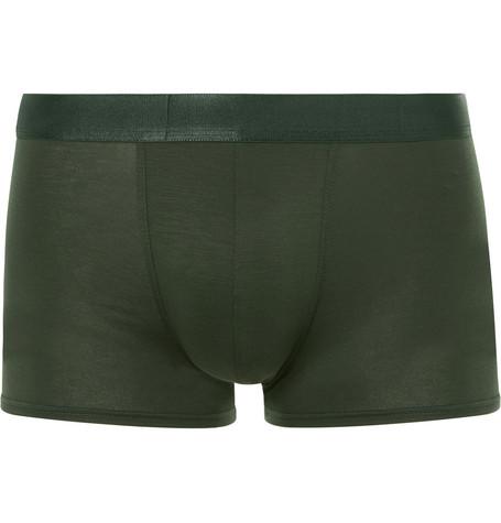 CDLP Stretch-Lyocell Boxer Briefs in Army Green