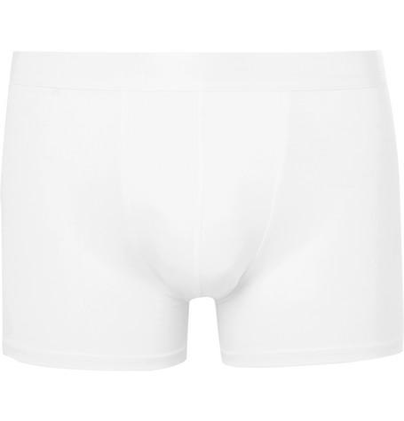 CDLP Stretch-Lyocell Boxer Briefs in White