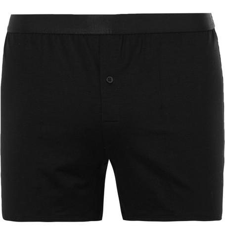 CDLP Stretch-Lyocell Boxer Shorts in Black