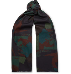 The Workers Club Printed Cotton Scarf