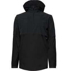 Under Armour Vanish Hybrid Shell and Stretch-Jersey Hooded Top
