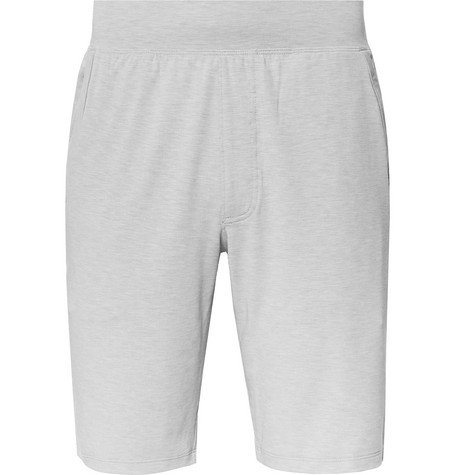 Under Armour Recovery Sleepwear Slim-Fit Mélange Stretch Tech-Jersey Shorts